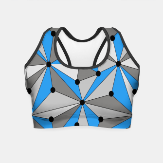 Miniature de image de Abstract geometric pattern - blue, gray and white. Crop Top, Live Heroes