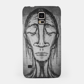 Thumbnail image of Senior Human Portrait Black and White Drawing Samsung Case, Live Heroes