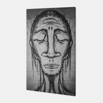 Thumbnail image of Senior Human Portrait Black and White Drawing Canvas, Live Heroes