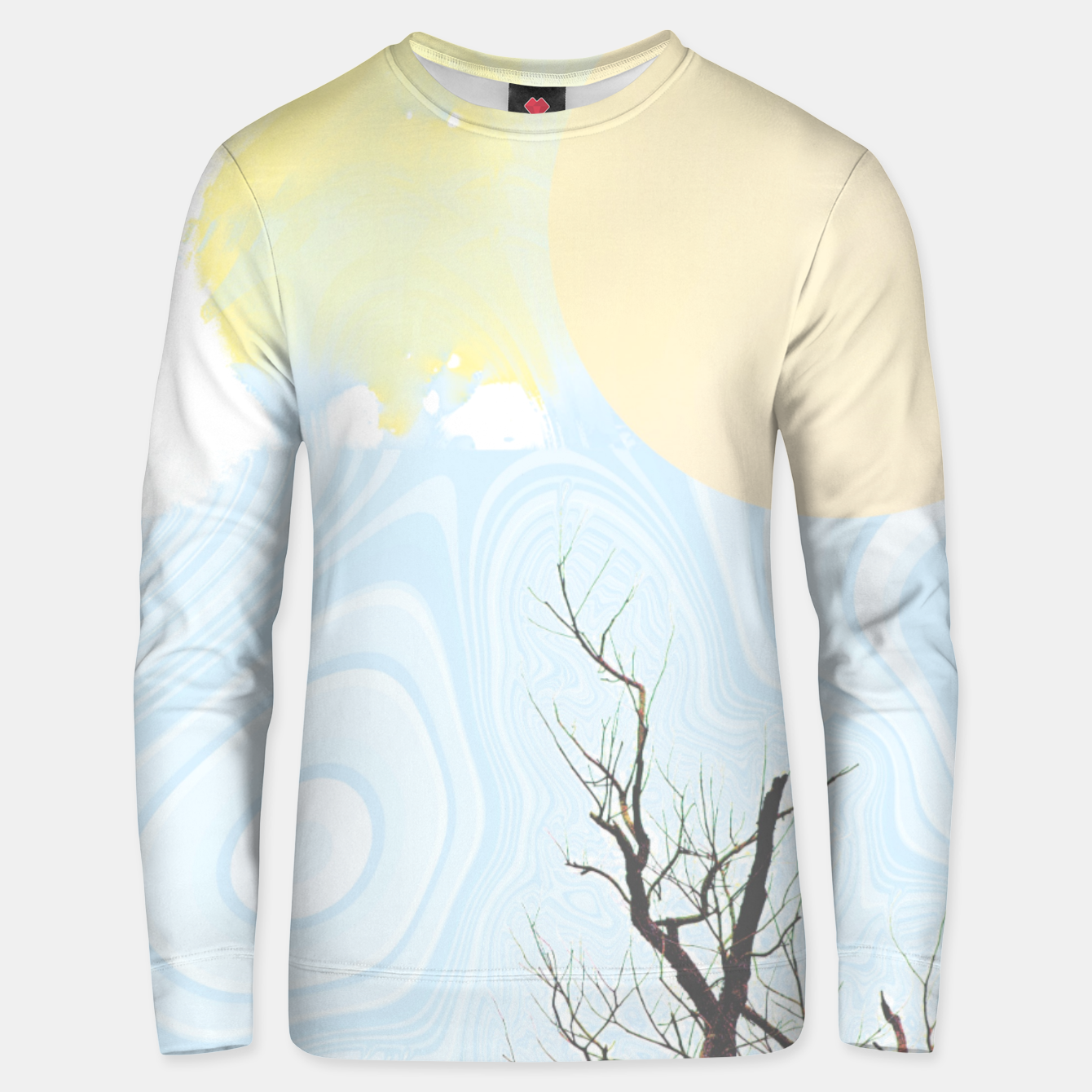 Image of Trees and colourful sky Unisex sweater - Live Heroes