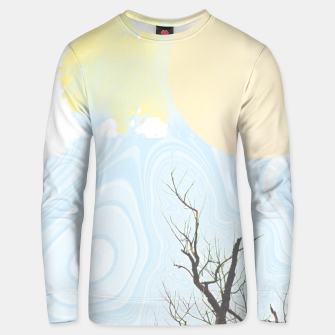 Trees and colourful sky Unisex sweater Bild der Miniatur