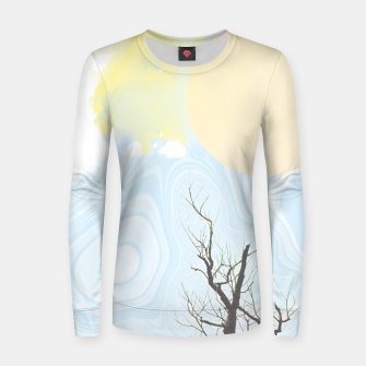 Miniatur Trees and colourful sky Women sweater, Live Heroes