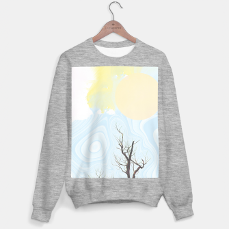 Trees and colourful sky Sweater regular Bild der Miniatur