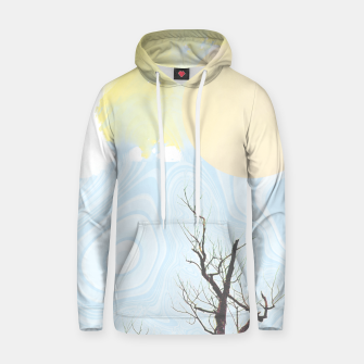 Trees and colourful sky Hoodie Bild der Miniatur