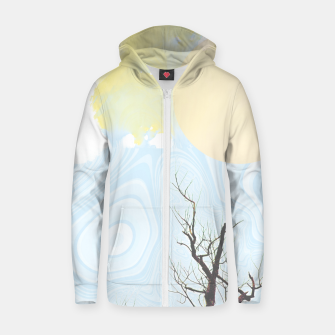 Miniatur Trees and colourful sky Zip up hoodie, Live Heroes