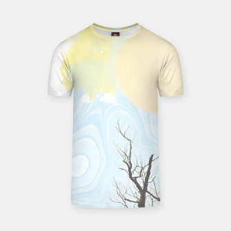 Miniatur Trees and colourful sky T-shirt, Live Heroes