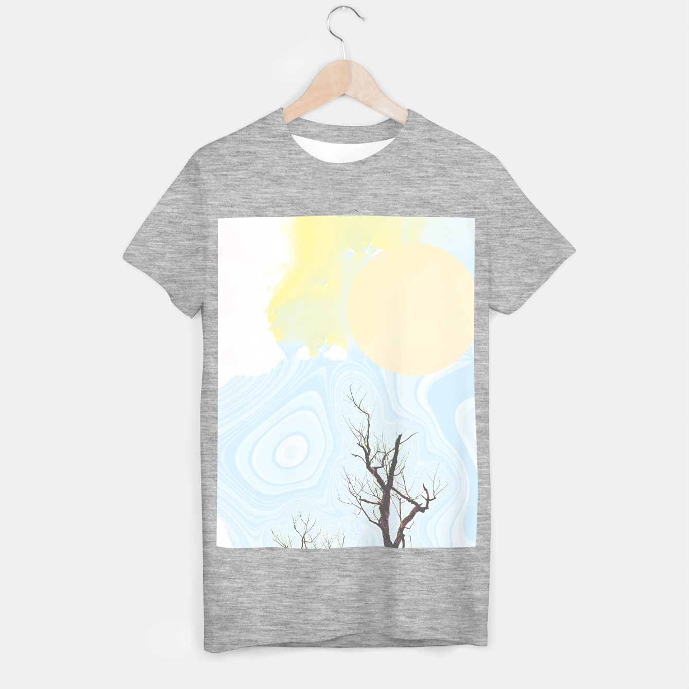 Foto Trees and colourful sky T-shirt regular - Live Heroes
