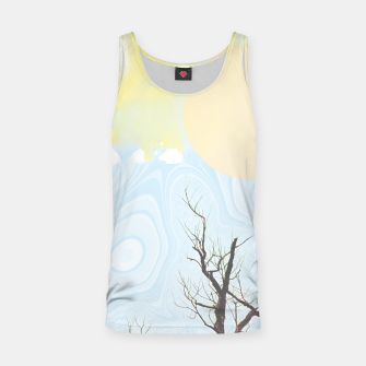 Trees and colourful sky Tank Top Bild der Miniatur