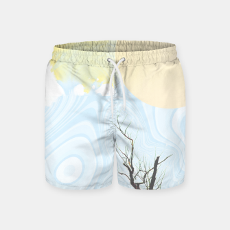 Miniatur Trees and colourful sky Swim Shorts, Live Heroes
