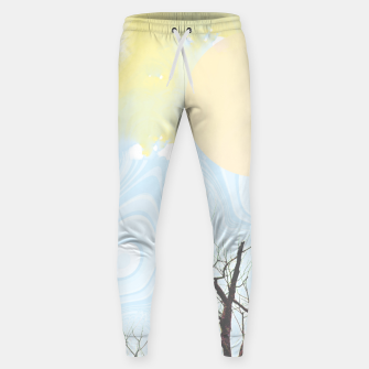 Trees and colourful sky Sweatpants Bild der Miniatur
