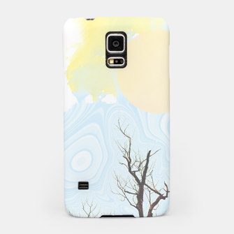 Trees and colourful sky Samsung Case Bild der Miniatur