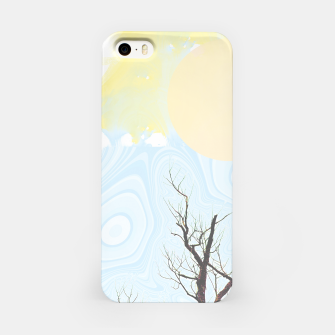 Trees and colourful sky iPhone Case Bild der Miniatur