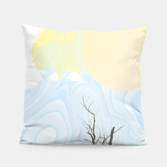 Trees and colourful sky Pillow Bild der Miniatur