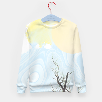 Trees and colourful sky Kid's sweater Bild der Miniatur