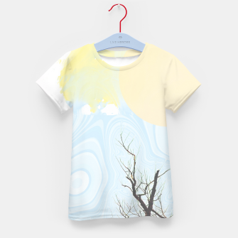Miniatur Trees and colourful sky Kid's t-shirt, Live Heroes