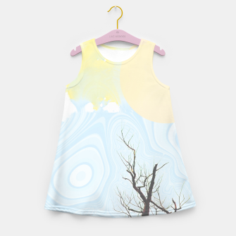 Trees and colourful sky Girl's summer dress Bild der Miniatur