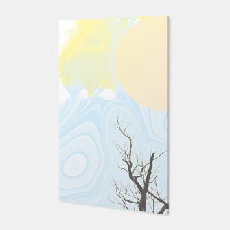 Trees and colourful sky Canvas Bild der Miniatur
