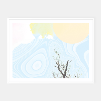 Miniatur Trees and colourful sky Framed poster, Live Heroes