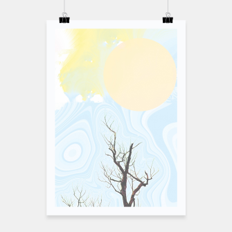 Trees and colourful sky Poster Bild der Miniatur