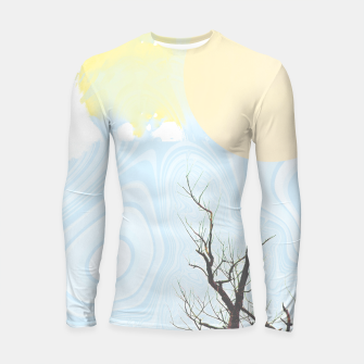 Miniatur Trees and colourful sky Longsleeve rashguard , Live Heroes