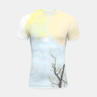 Trees and colourful sky Shortsleeve rashguard Bild der Miniatur