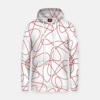 Abstract pattern - red and white. Hoodie thumbnail image
