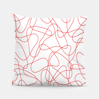 Abstract pattern - red and white. Pillow thumbnail image