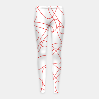 Abstract pattern - red and white. Girl's leggings thumbnail image