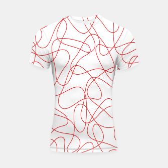 Abstract pattern - red and white. Shortsleeve rashguard thumbnail image