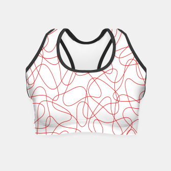 Abstract pattern - red and white. Crop Top thumbnail image