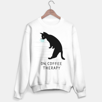 Miniatur Black Cat on Coffee Therapy Sweater regular, Live Heroes