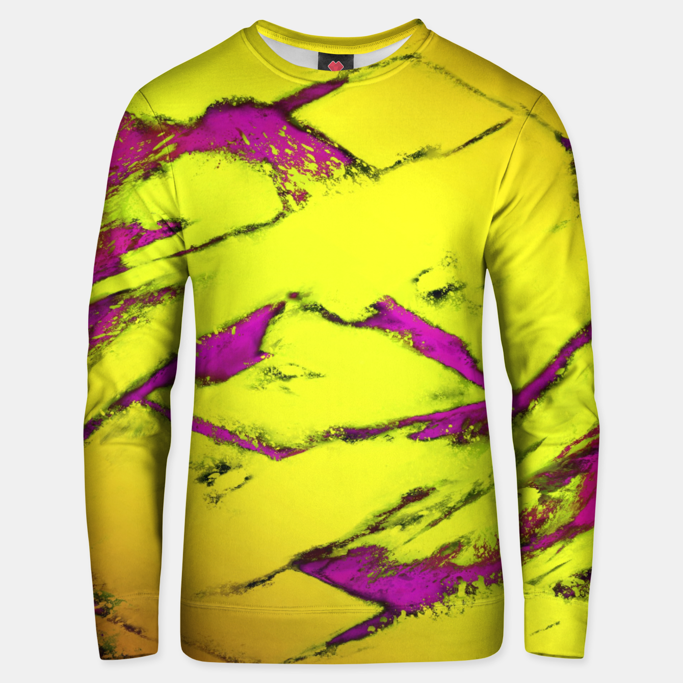 Image of Fractured anger yellow Unisex sweater - Live Heroes
