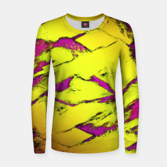 Fractured anger yellow Women sweater thumbnail image