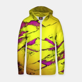 Fractured anger yellow Zip up hoodie thumbnail image