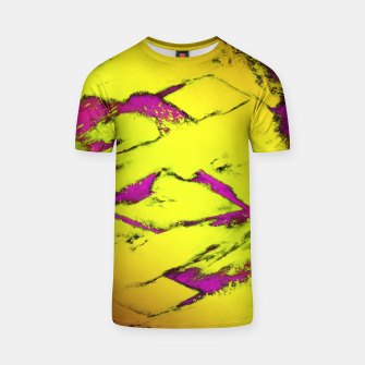 Fractured anger yellow T-shirt thumbnail image