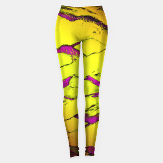 Fractured anger yellow Leggings thumbnail image