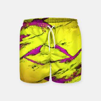 Fractured anger yellow Swim Shorts thumbnail image