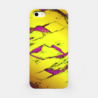 Fractured anger yellow iPhone Case thumbnail image