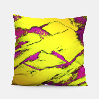 Fractured anger yellow Pillow thumbnail image