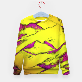 Fractured anger yellow Kid's sweater thumbnail image