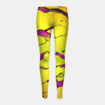 Fractured anger yellow Girl's leggings thumbnail image