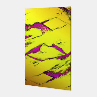 Fractured anger yellow Canvas thumbnail image