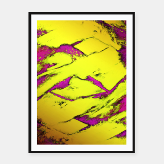 Fractured anger yellow Framed poster thumbnail image