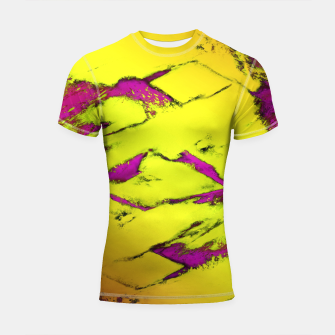 Fractured anger yellow Shortsleeve rashguard thumbnail image