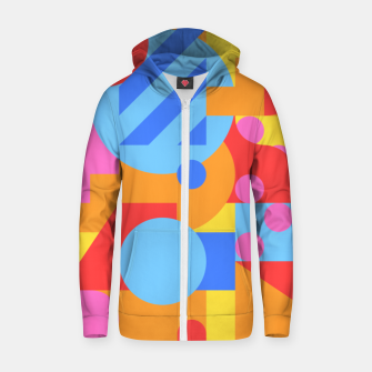 Thumbnail image of Geometric pattern Sweat capuche zippé , Live Heroes