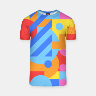 Thumbnail image of Geometric pattern T-shirt, Live Heroes
