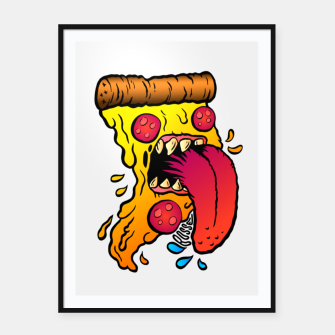 Thumbnail image of Hungry Pizza Affiche et cadre, Live Heroes