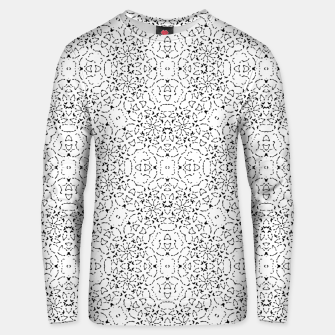 Miniatur Black and White Modern Ornate Pattern Unisex sweater, Live Heroes