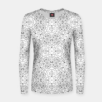 Miniatur Black and White Modern Ornate Pattern Women sweater, Live Heroes