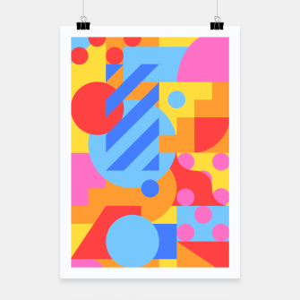 Thumbnail image of Geometric pattern Affiche, Live Heroes